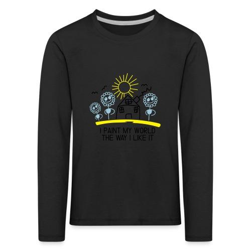 paint-my-world - Kinder Premium Langarmshirt