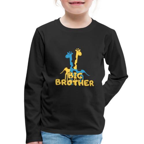 big brother giraffe babyparty shirt - Kinder Premium Langarmshirt