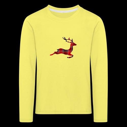 noël cerf écossais - T-shirt manches longues Premium Enfant