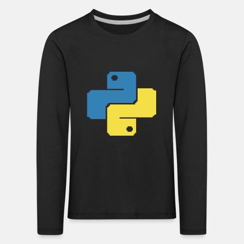 Python Pixelart - Kids' Premium Longsleeve Shirt