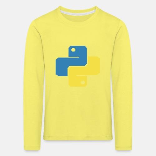 Python Pixelart - Kinder Premium Langarmshirt
