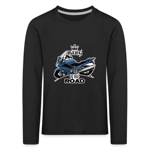 0885 FJR KING of the ROAD (blauw) - Kinderen Premium shirt met lange mouwen