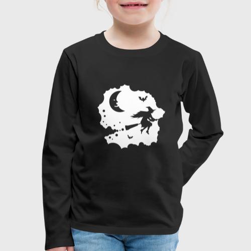 Sorcière sur un balai - T-shirt manches longues Premium Enfant