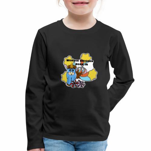 Une merveilleuse licorne est née (pour garcon) - T-shirt manches longues Premium Enfant