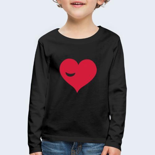 Winky Heart - Kinderen Premium shirt met lange mouwen
