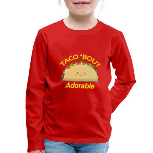 taco - Maglietta Premium a manica lunga per bambini