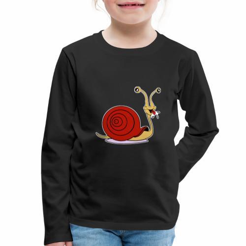 Escargot rigolo red version - T-shirt manches longues Premium Enfant