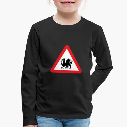Welsh Dragon - Kids' Premium Longsleeve Shirt