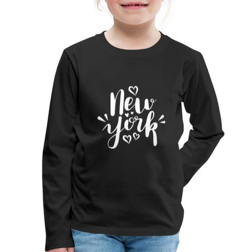 New York - Kinder Premium Langarmshirt
