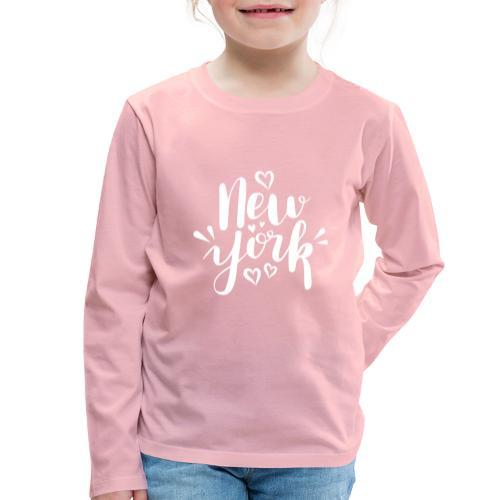 New York - Kinder Premium Langarmshirt