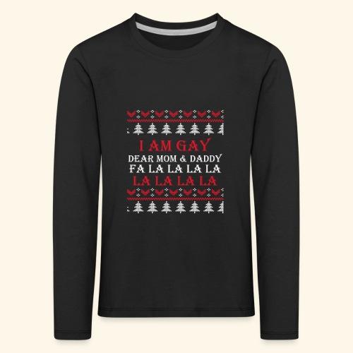 Gay Christmas sweater - Koszulka dziecięca Premium z długim rękawem