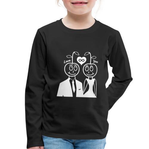 Happy Kirsche Weiß - Kinder Premium Langarmshirt