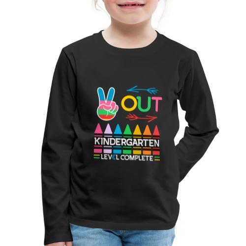 Peace Out Förskolan Färdig Med Denna Nivå Klar - Långärmad premium-T-shirt barn
