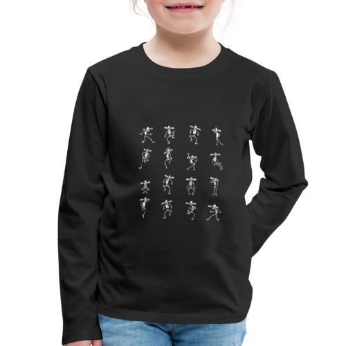 Skeleton Dance - Kinder Premium Langarmshirt