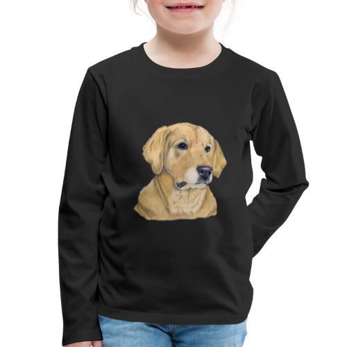 labrador yellow - pastel - Børne premium T-shirt med lange ærmer