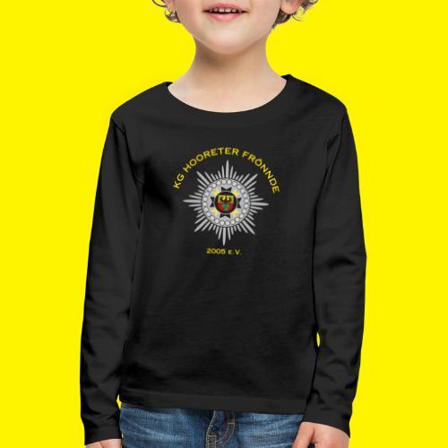 Gelbe Schrift - Kinder Premium Langarmshirt