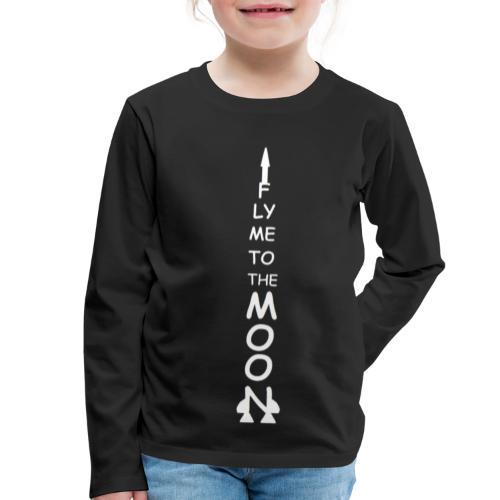 Fly me to the moon (MS paint version) - Kinderen Premium shirt met lange mouwen