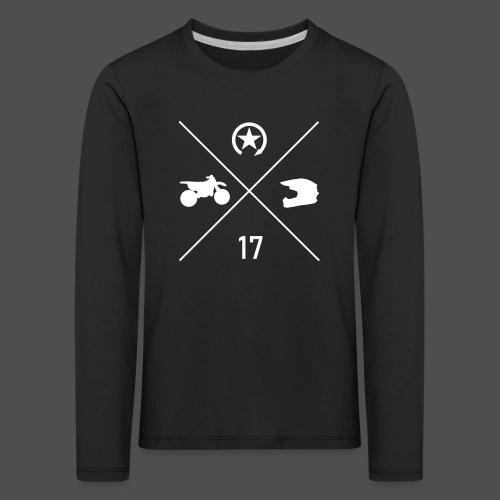 BIKE N HELMET 17 we - Kids' Premium Longsleeve Shirt