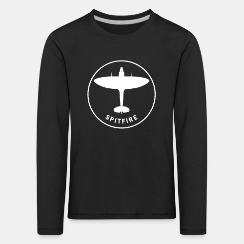 Spitfire fighter plane - Kids' Premium Longsleeve Shirt