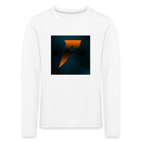 YoutubeLogo - Lasten premium pitkähihainen t-paita