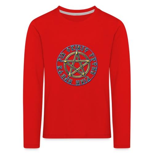 Runen Pentagramm Elemente Schutz Amulett Magie - Kinder Premium Langarmshirt