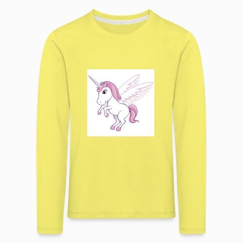Petite licorne rose super mignonne!! - T-shirt manches longues Premium Enfant