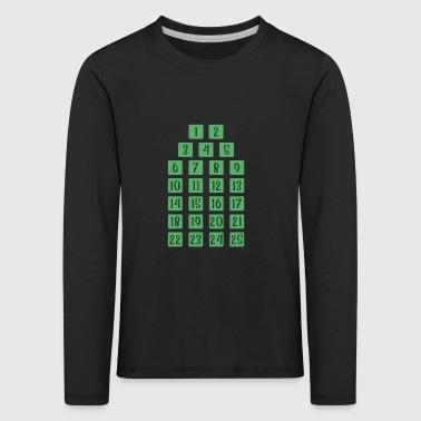 Advent 25 Calendar Christmas Countdown Christian - Kids' Premium Longsleeve Shirt