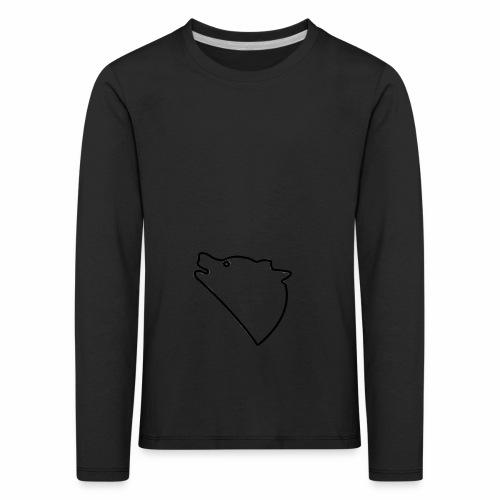 Wolf baul logo - Kinderen Premium shirt met lange mouwen