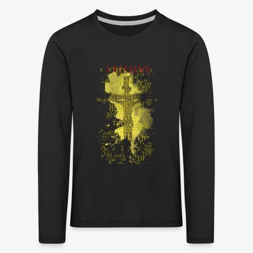 I believe / wierzę (yellow-żółty) - Koszulka dziecięca Premium z długim rękawem