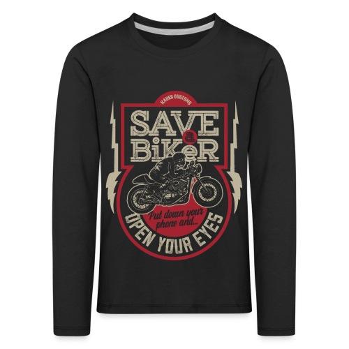 Save A Biker - Kids' Premium Longsleeve Shirt