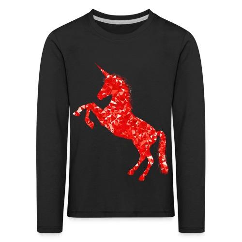 unicorn red - Koszulka dziecięca Premium z długim rękawem