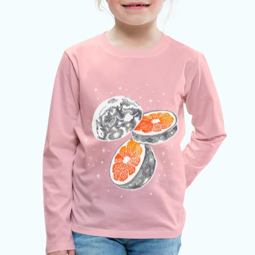 Moon orange - Kids' Premium Longsleeve Shirt