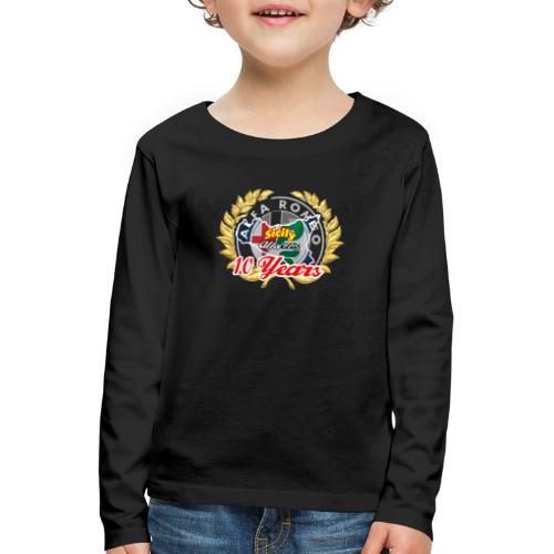 logo10 anni - Maglietta Premium a manica lunga per bambini