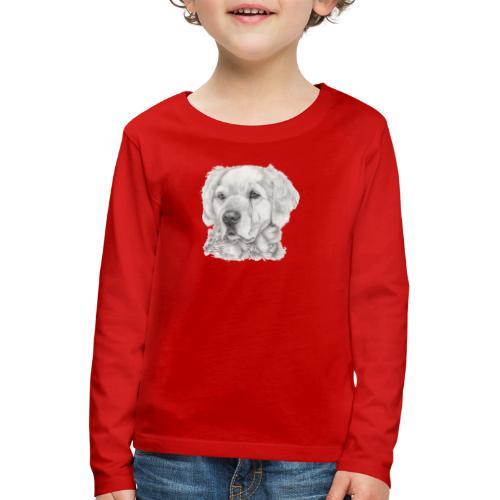 golden retriever - Børne premium T-shirt med lange ærmer