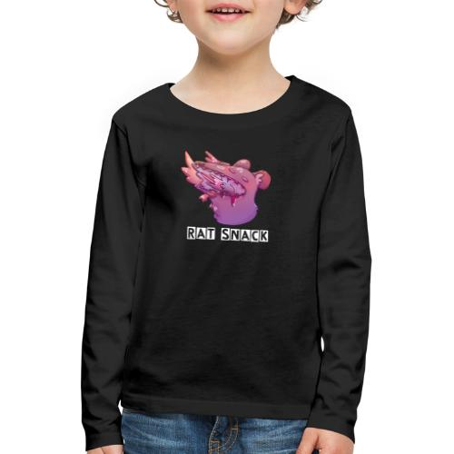 Rat Snack Text - Långärmad premium-T-shirt barn