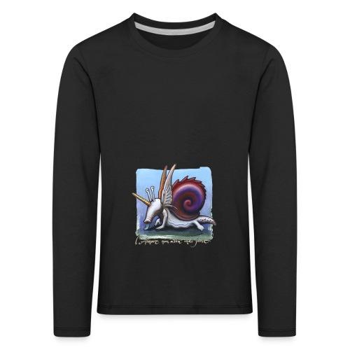 Unichiocciolo - Maglietta Premium a manica lunga per bambini