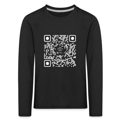 QR The New Internet Should not Be Blockchain Based W - Kids' Premium Longsleeve Shirt