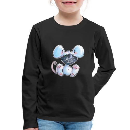 Maskenmaus - Kinder Premium Langarmshirt
