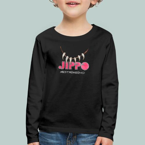 jippomestari_pink - Lasten premium pitkähihainen t-paita