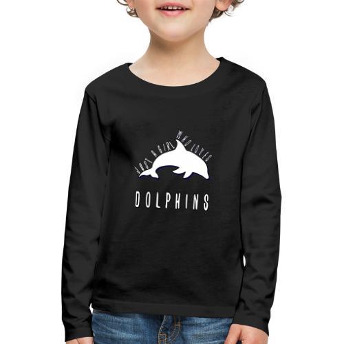 Bara en simpel tjej som älskar delfiner - Långärmad premium-T-shirt barn
