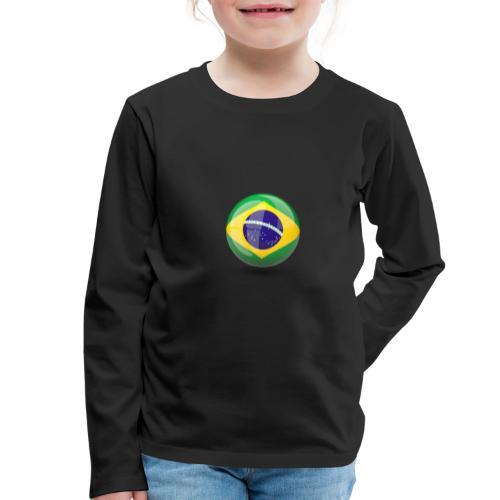 Símbolo da Bandeira do Brasil - Kids' Premium Longsleeve Shirt
