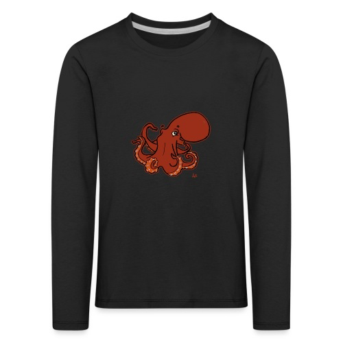 Giant Pacific Octopus (black edition) - Kinder Premium Langarmshirt