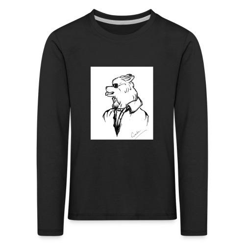 InkedThe Dog style bak LI - Camiseta de manga larga premium niño
