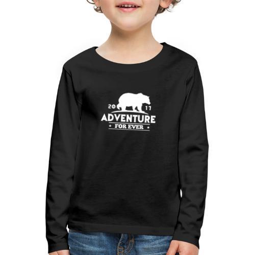 ADVENTURE FOR EVER - GRIZZLY - Maglietta Premium a manica lunga per bambini