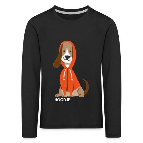 shirt-dog-hoodie-schrift - Kids' Premium Longsleeve Shirt