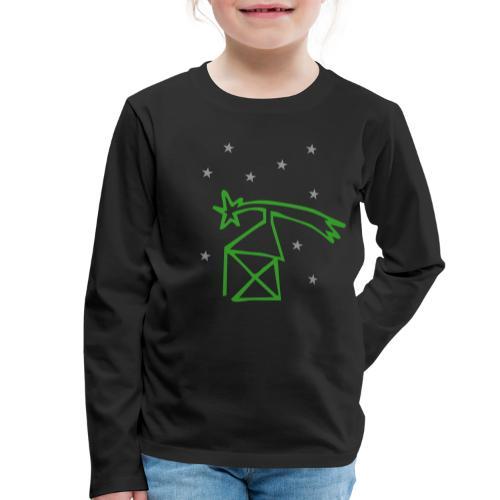 nikolaushaus mit komet - Kinder Premium Langarmshirt