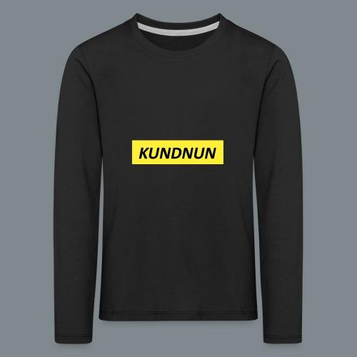Kundnun official - Kinderen Premium shirt met lange mouwen