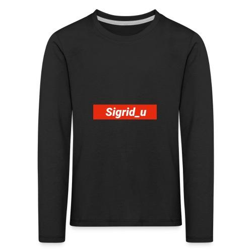 Sigrid_uBoxLogo - Premium langermet T-skjorte for barn