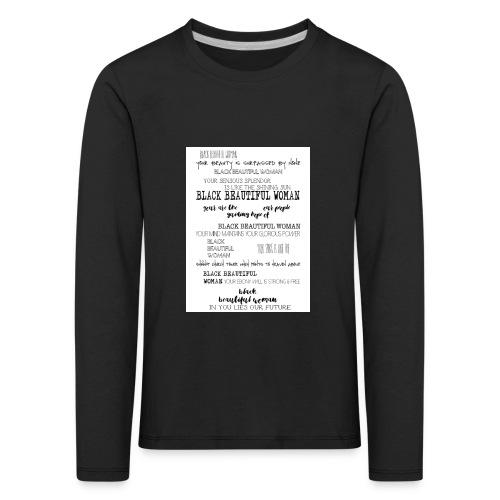 Beautiful Black Woman - Kids' Premium Longsleeve Shirt