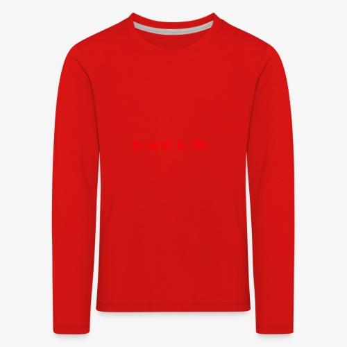 sog s1t l 1 - Børne premium T-shirt med lange ærmer